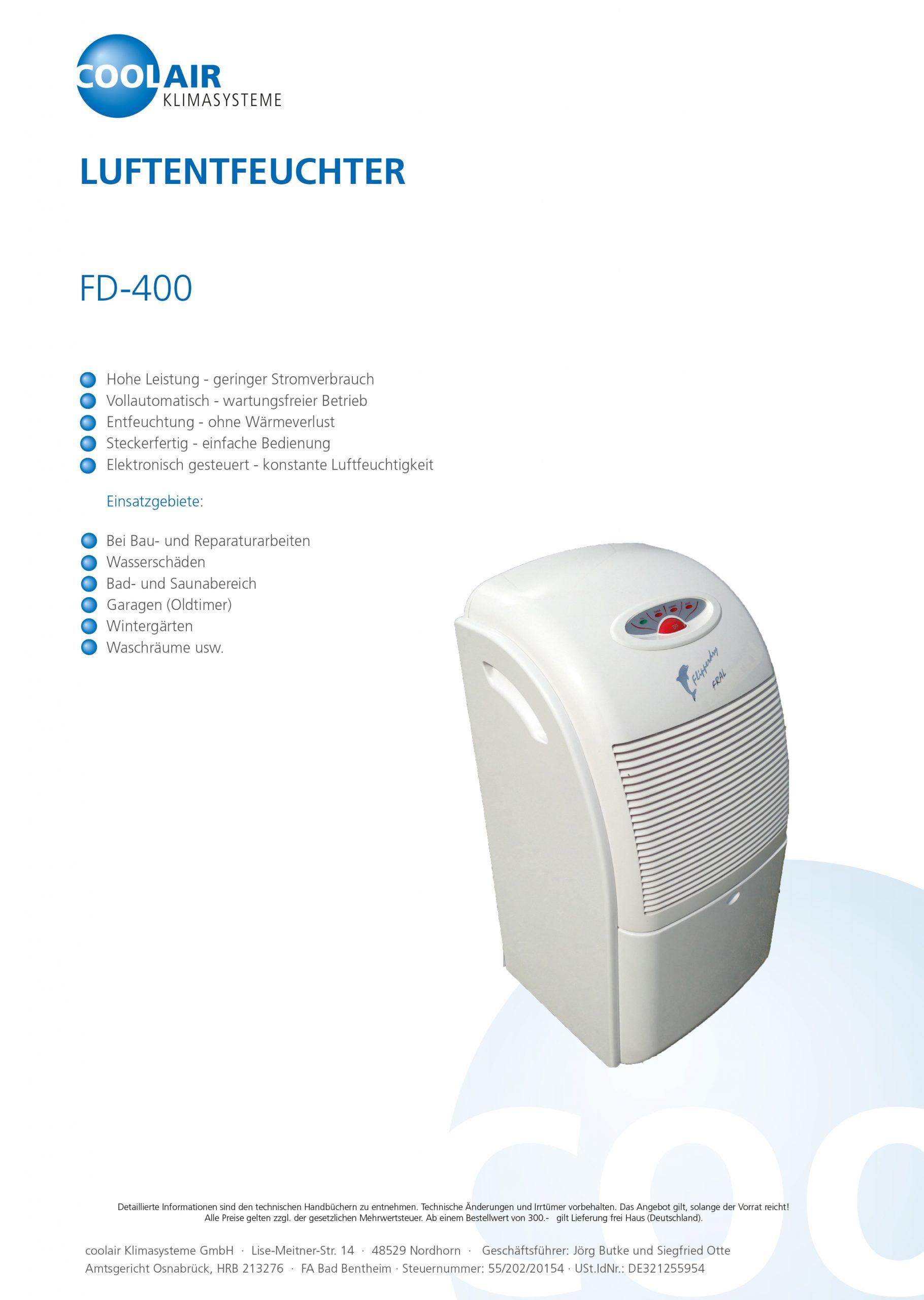 Luftentfeuchter FD 400
